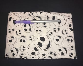 The Many Faces of Jack Skellington Pencil Case, Coin Purse, Wristlet, Cosmetic Bag #285