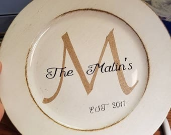 Family / Couple name Platters