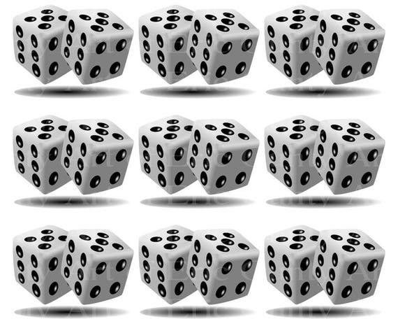 Casino Las Vegas Dice - Edible Cake Side Toppers- Decorate The Sides of Your Cake! - D23001