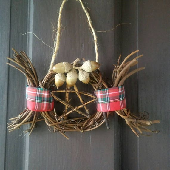 Pagan Yule Decorations, Rustic Door Decoration, Yule Ornaments, Ornament Wreath, Pagan, Yule, Decorations, Ornaments, Pagan Yule Gifts