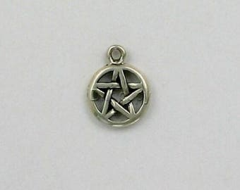 Sterling Silver 13mm Pentacle Charm