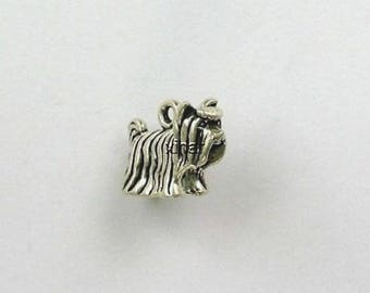 Sterling Silver 3-D Yorkshire Terrier Charm
