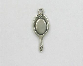 Sterling Silver 3-D Hand Mirror Charm