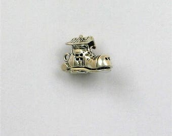 Sterling Silver 3-D Old Lady Who Lived in Shoe Charm