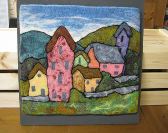 Original Mounted Needle Felted Picture
