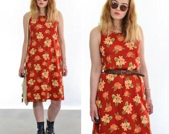 Vintage 90's Floral Print Dress