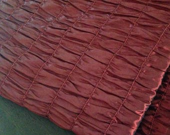 "Gorgeous smocked wine red fabric...57""x 78"" (1.58 Yards)"