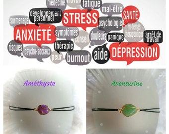 "Bracelet ""anti-stress"" Amethyst or Aventurine"