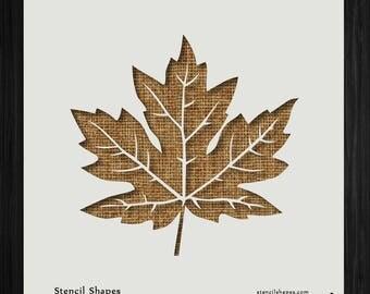 Maple Leaf Stencil Etsy