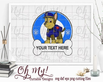 Paw Patrol Frame Svg Dxf Eps Png Cutting Files