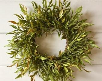 Farmhouse Faux Greenery Fern Wreath | Small Wreath | Gallery Wall Wreath | Fixer Upper Style | Farmhouse Style