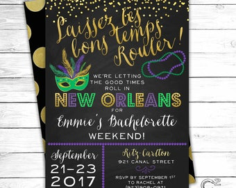 Let the Good Times Roll New Orleans Bachelorette Invitation