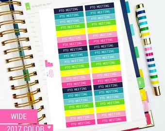 PTO Labels Sticker Sheet