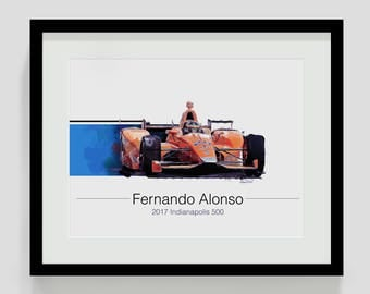Fernando Alonso Indy 500 Artwork