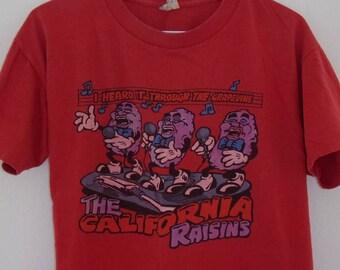 Vintage 80's California Raisins, I Heard It Through The Grapevine T-Shirt
