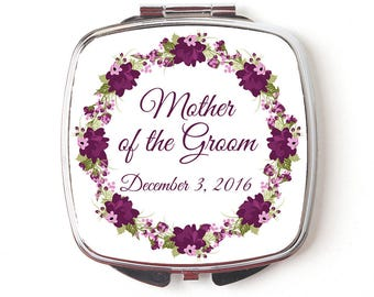 Mother Of Groom Compact Mirror - Mother Of The Groom Gift - Wedding Compact Makeup Mirror