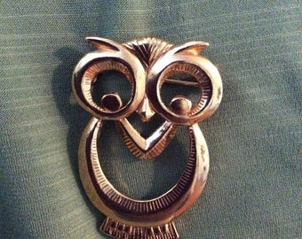 Owl Pin Gold Color
