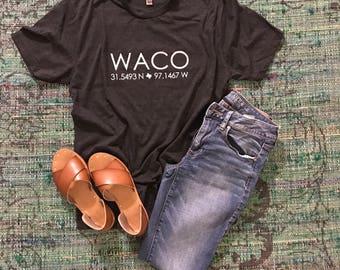 Waco - Latitude / Longitude tee