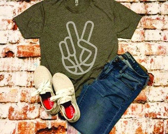 Basketball peace tee