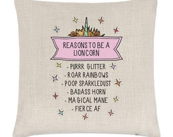 Reasons To Be A Lioncorn Linen Cushion Cover