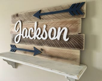 Nursery wood sign, Nursery name sign, Baby decor, Nursery letters, Nursery decor, Rustic Nursery, Nursery sign, Nursery Baby name, wood sign