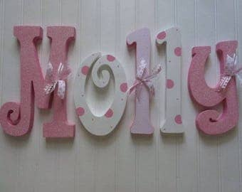 Nursery decor, Nursery wall decor, Hanging nursery letters, girl nursery letters, girl nursery decor, nursery decor, nursery wall letters