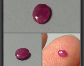 Ruby cabochon 3.5x2.5x1.3mm