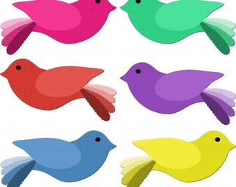 80% OFF SALE Cute Birds Clipart Digital Clip Art - Personal and Commercial Use - Instant Download - D395