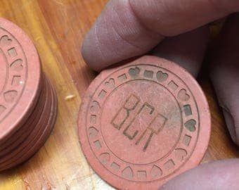 1 Antique Poker Chip ~ BCR ~ (10 available)