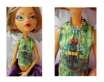 "MH EAH 17"" Doll Jewelry, Steampunk  Resistor Necklace,  Doll Computer Jewelry,  Steampunk Jewelry, 17"" Monster Doll High Ever After High"