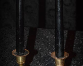 10 Inch Black Taper Candles