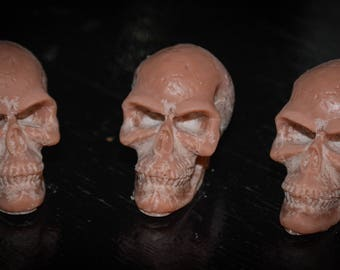 3 Fresh Roasted Coffee Scented Soy Wax Skull Melts