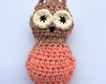 Crocheted Stuffed Owl-100% cotton-Home Decor/Ornament/Pet Toy/Stuffed Toy/Childs Toy