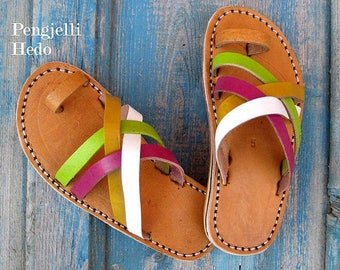 Sandals barefoot size 25 in leather for girl