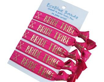Hair elastics, soft stretch hair ties, ponies, yoga hair ties, ponytail holders - Bride and bridesmaids