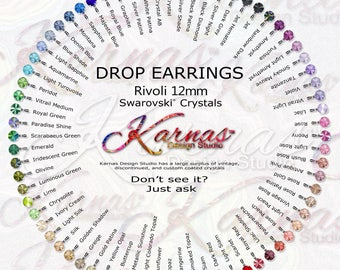 12MM ROUND DROPS *Pick Your Color *Leverback Earrings Made With Swarovski Crystal *Choose Your Finish *Karnas Design Studio™ *Free Shipping*