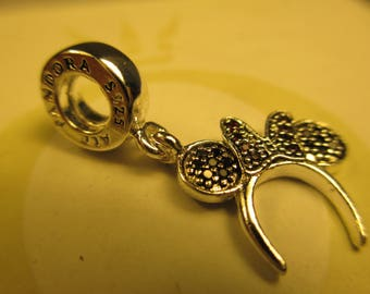 New Authentic Sterling Silver 925 ALE Pandora Charm Disney Minnie Headband 791562NCK