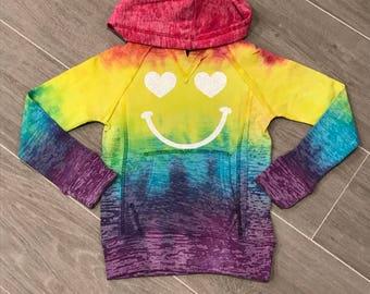 Tie dye hoodie, tie dye sweatshirt, tie dye, hoodie, sweatshirt, emoji,