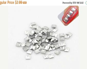On Sale 200pcs silver square nail Studs, 3D Nail Design, DIY Nail Art