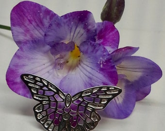 Pin/brooch 925 Elle China open work butterfly shape