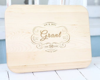 2nd Anniversary Gift Board, Personalized-Engraved,  Rustic Anniversary Wedding Gift,