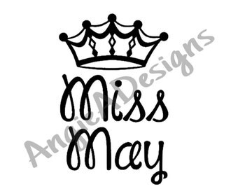 Miss May with Crown SVG