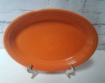 Vintage Radio Active serving platter / 13.5 oval by Homer Laughlin circa 30's
