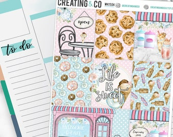 Sweet Shop Weekly Planner Kit for No-White Space and White Space Planners  - WK15