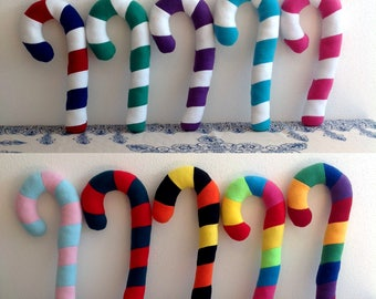 Striped Candy Cane Costume Fursuit Plush Prop - Custom Options Available