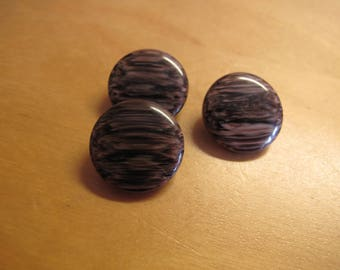 3 brown mottled plastic  1960's buttons pretty 18 mm 160617/15