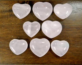 Rose Quartz Heart Shaped Stone - Chakra - Metaphysical - Reiki (RK143B15)