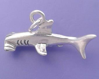 HAMMERHEAD SHARK Charm .925 Sterling Silver, Hammer Head, Orca Pendant -  lp2775