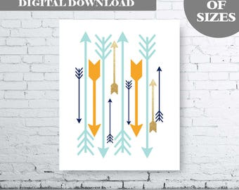 Arrow Wall Art Print - Instant Download. Gold Glitter Arrow. Orange Glitter Arrow. Aqua Glitter Arrow. Blue Glitter Arrow. Arrow Printable.