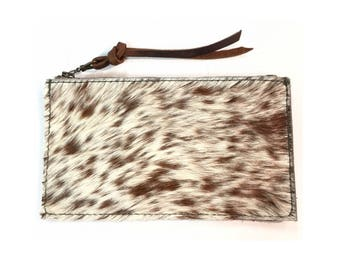 ZIP WALLET Hair-on Speckled • Calf Hair Leather Case